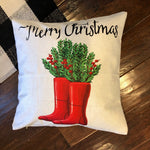 Christmas Boots - pillow cover