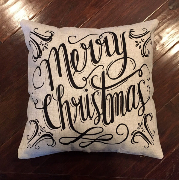 Merry Christmas - pillow cover