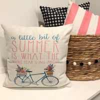 Summer Bike - pillow cover