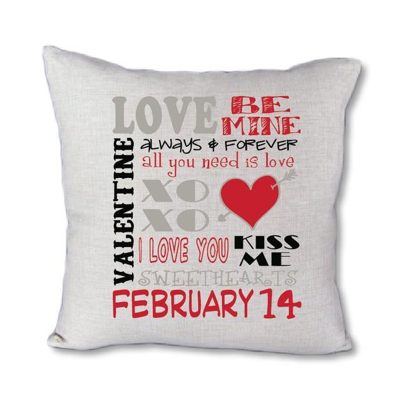 Valentines Subway Art - pillow cover