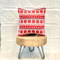Tiered Tray Mini Pillow | Red Sweater Pattern | Farmhouse Tiered Tray Decor | Christmas Tiered Tray Decor