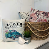 Flower Market - pillow cover