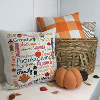 Orange Checkered - pillow cover
