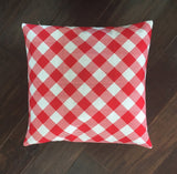 Red Table Cloth - pillow cover