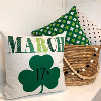 March 17th St Patricks Day - Pillow cover