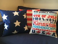 4th of July Subway Art - pillow cover