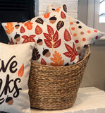 Acorn & Leaf Pattern - pillow cover