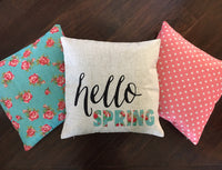 Coral Pink Dot - pillow cover