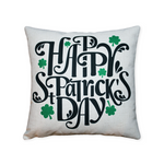 Happy St Patricks Day w/ Clovers - Pillow cover