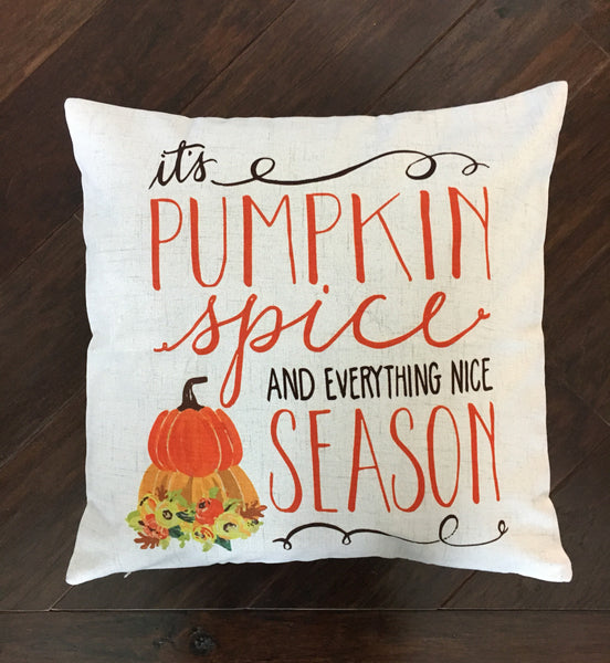 Pumpkin Spice - pillow cover
