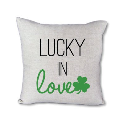 Lucky in Love - pillow cover