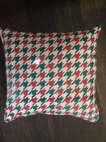 Christmas Houndstooth - pillow cover