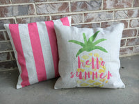 Pink stripe - pillow cover