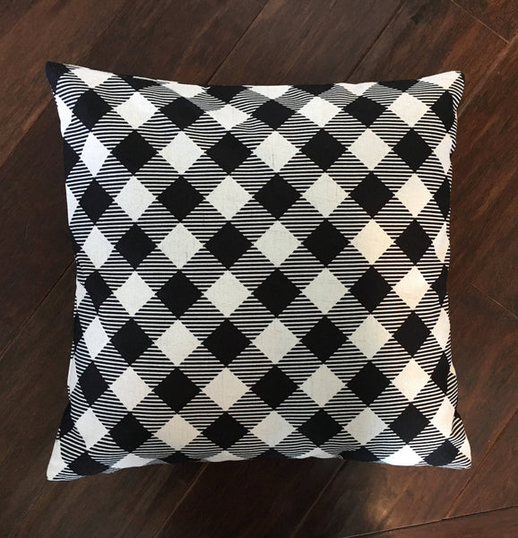 Black Gingham - pillow cover