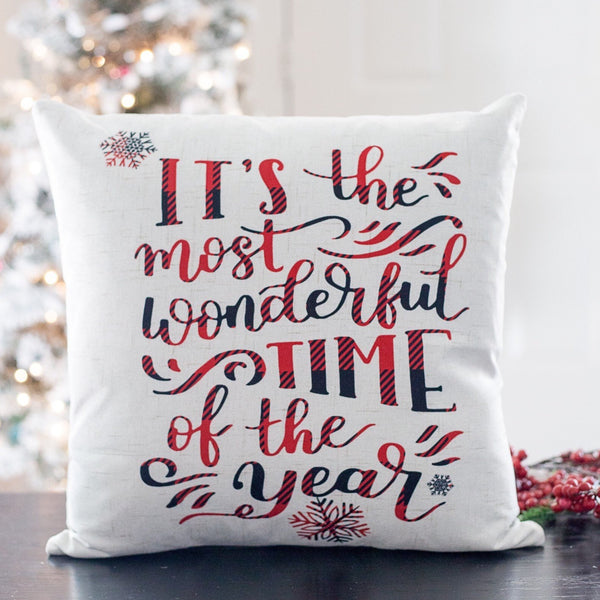 It's the Most Wonderful - pillow cover