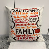 Autumn Words - pillow cover