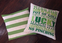 Green Stripe - pillow cover