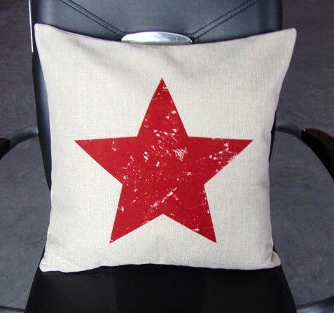 Red Star - pillow cover