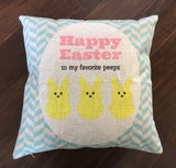 Happy Easter Peeps - pillow cover