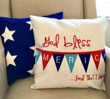God Bless America - pillow cover