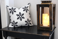 Black Mini Snowflake - pillow cover
