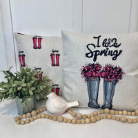 Spring Boots Pattern - pillow cover