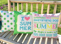 I Love Summer - pillow cover