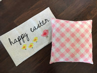 Pink Gingham - pillow cover