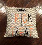 Trick or Treat Chevron - pillow cover