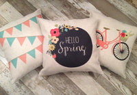 Hello Spring - pillow cover