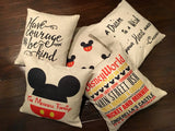 Disney Land Subway Art - pillow cover