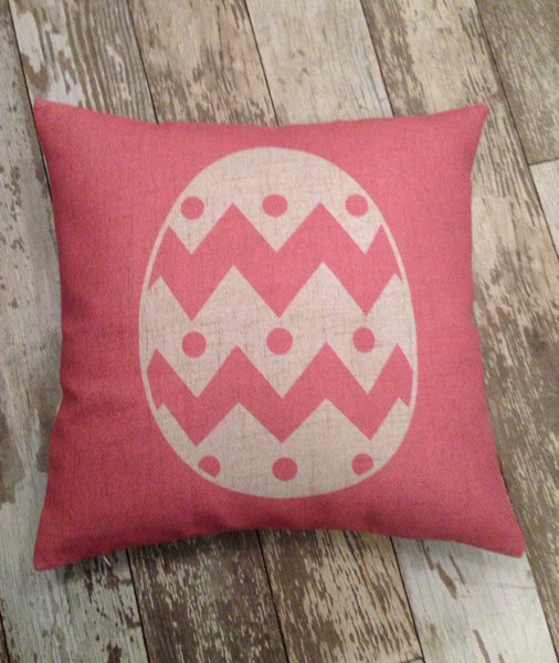Pink Easter Egg - pillow cover