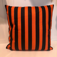 Orange & Black Stripe - pillow cover
