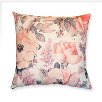 Pink Floral - Pillow Cover