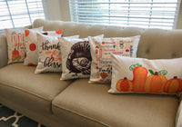 Thanksgiving Words - pillow cover