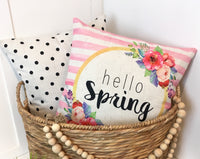 Hello Spring Stripe - pillow cover