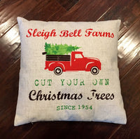 Christmas Truck - pillow cover