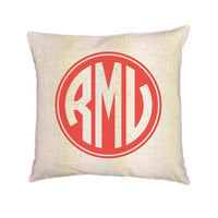 Custom Monogram Pillow Cover (Style:Shield) 43 color options
