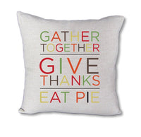 Eat Pie - pillow cover