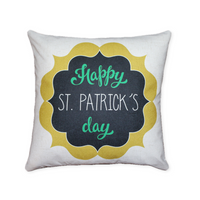 Happy St. Patricks Day Shield - pillow cover