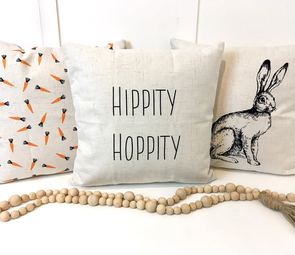 Hippity Hoppity Rae Dunn inspired - pillow cover