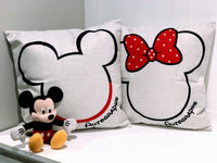 Minnie & Mickey Autograph - pillow cover
