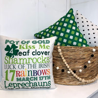 Pot of Gold St. Patricks Day Words - pillow cover