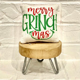 Tiered Tray Mini Pillow | Merry Grinchmas | Farmhouse Tiered Tray Decor | Christmas Tiered Tray Decor