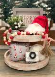 Tiered Tray Mini Pillow | Gnome Mini Pillow | Farmhouse Tiered Tray Decor | Christmas Tiered Tray Decor