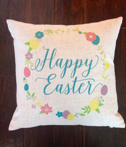 Happy Easter Floral - pillow cover