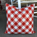 Burnt Orange Check - pillow cover