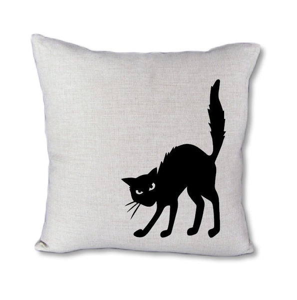 Black Cat - pillow cover