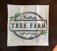 Tree Farm Sign - pillow cover