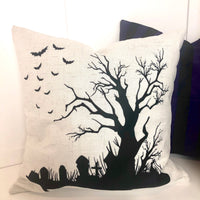 Creepy Tree - pillow cover